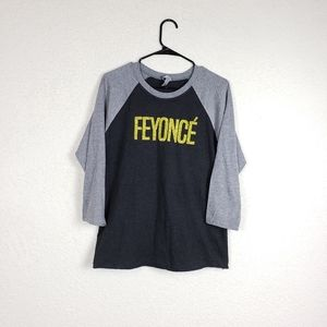 Next level apparel Feyonce 3/4 sleeve top size med